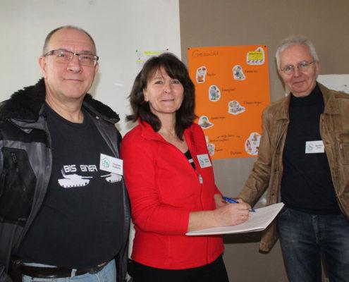 Haus der Möglichkeiten: Thomas Goßens, Bettina Janulik und Manfred Gürnt (v.l.n.r.) (Foto: Liane Protzmann)