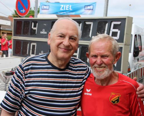 Peter Richter und Leo Hohmann beim 36. Straßenlauf (Foto: Giso Siebert)