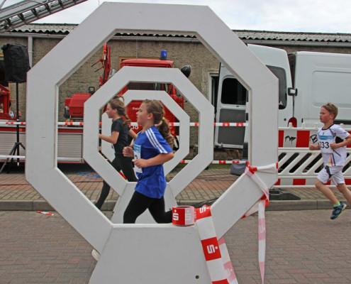 Zieleinlauf beim 36. Leegebrucher Straßenlauf (Foto: Giso Siebert)