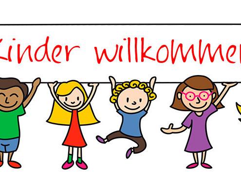 Kinder willkommen! (Bild: Rudie/fotolia.de)