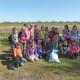Erkundungen am Rande Leegebruchs unternahm die Klasse 3c der Grundschule. Dabei gab es so manche Entdeckung entlang des Muhrgrabens und am Schlangenberg. Unterricht in der Natur.