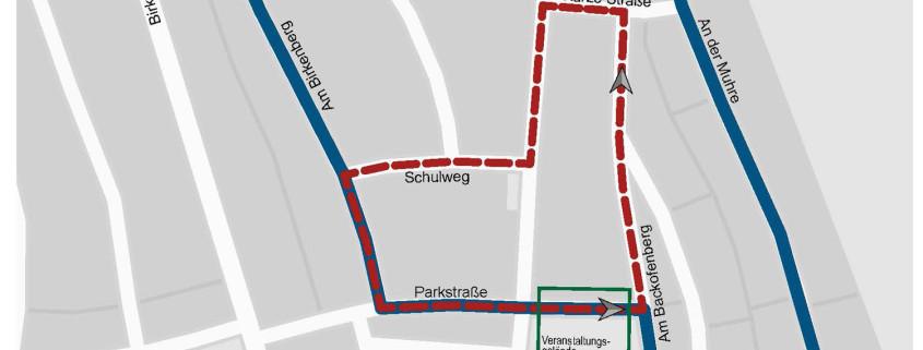 neue Laufstrecke des Leegebrucher Straßenlaufes 2016