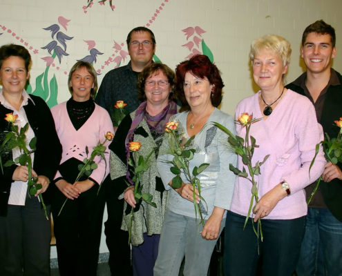 Die Gründer des GfL am 28. September 2010, v.l.n.r.: Ute Hartmann, Ulrike Beyerlein, Giso Siebert, Rosemarie Dieck, Monika Pech, Christa Bluhm, Sascha Funke (Foto: Hajo Eckert)