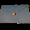 """Mini-Aufkleber """"Leegebruch-Herz"""" (Beispiel auf einem Briefumschlag)"""