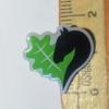 Ansteck-Pin mit dem Leegebruch-Herz. Butterfly-Verschluss. ca. 1,8 cm hoch. Vermaßung
