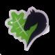 Ansteck-Pin mit dem Leegebruch-Herz. Butterfly-Verschluss. ca. 1,8 cm hoch