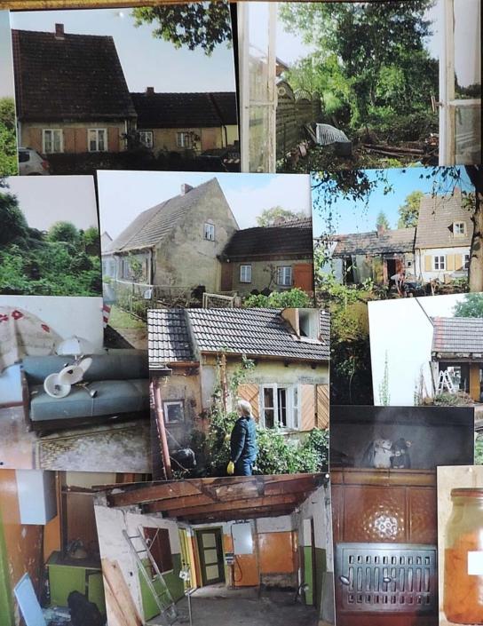 Straße der Jungen Pioniere 14: Fotocallage vom Umbau des Hauses (Foto: hajo)